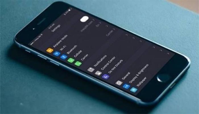 iPhone kara ekran modu