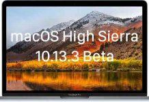 macOS 10.13.3 Beta 4 guncellemesi
