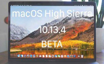 macOS 10.13.4 beta guncelleme