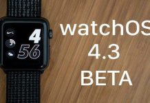 watchOS 4.3 beta guncelleme