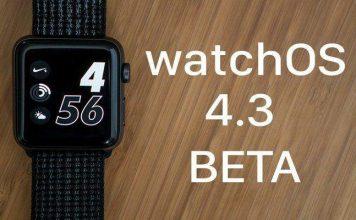 watchOS 4.3 beta guncelleme