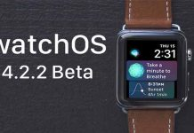 watchOS 4.2.2 beta 4 guncellemesi