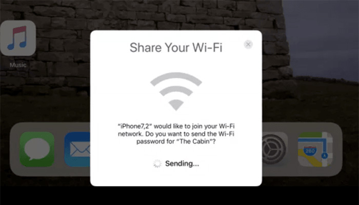 iOS 11 WiFi parolasi aktarma