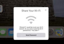 iPhone WiFi parolasi paylasma