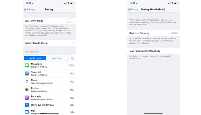 iOS 11.3 pil sagligi